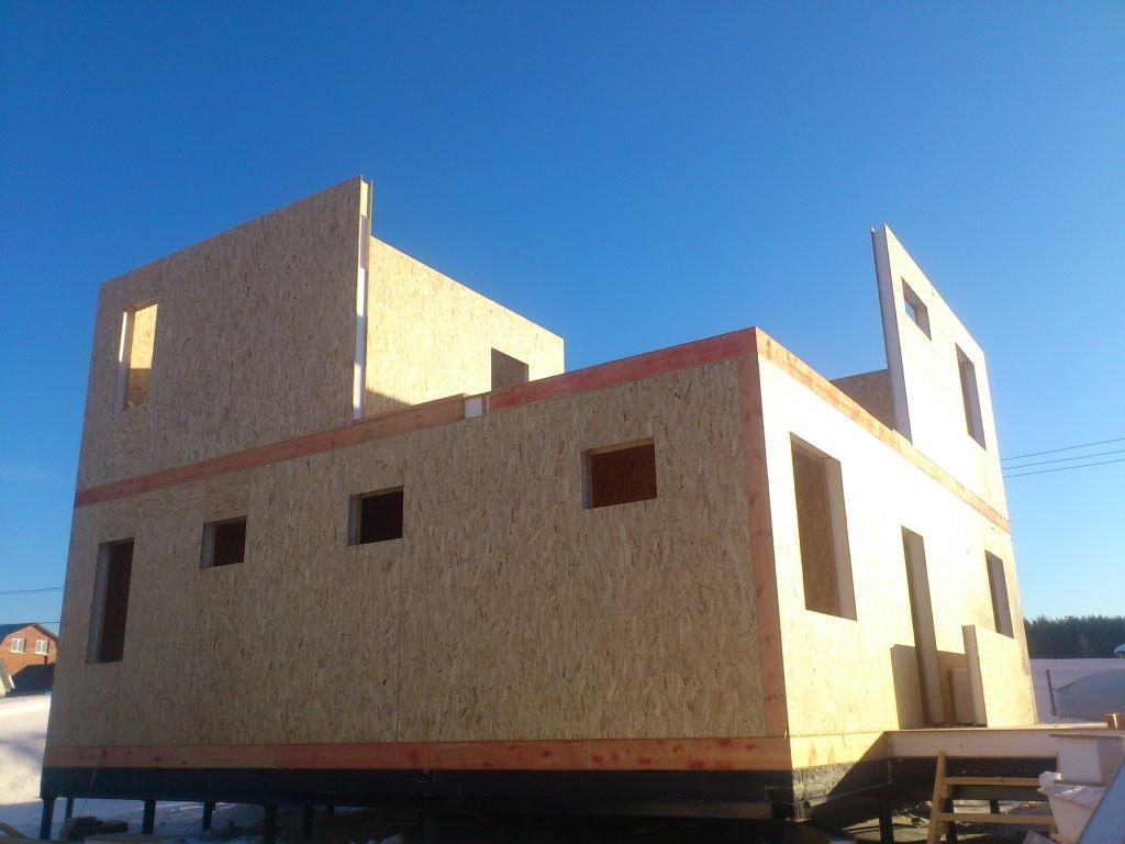 Стены первого и второго этажа  из СИП панелей